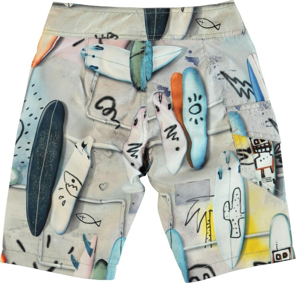 6009d54d27 Molo Kids - Nalvaro swim shorts UV50+, Summer Walls   Lilla company