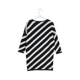 Papu - KNIT STRIPE DRESS, Black, White sand