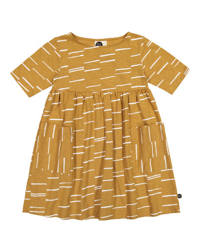 Mainio - Hay pocket dress, Honey Mustard