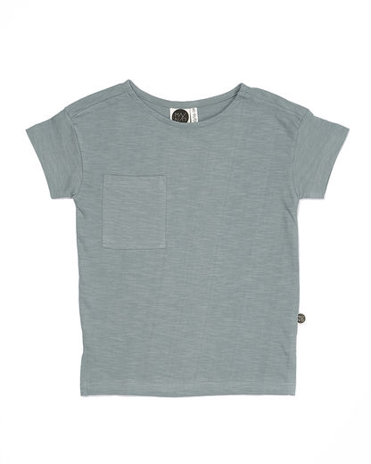 Mainio - SLUB T-SHIRT, Silver Blue
