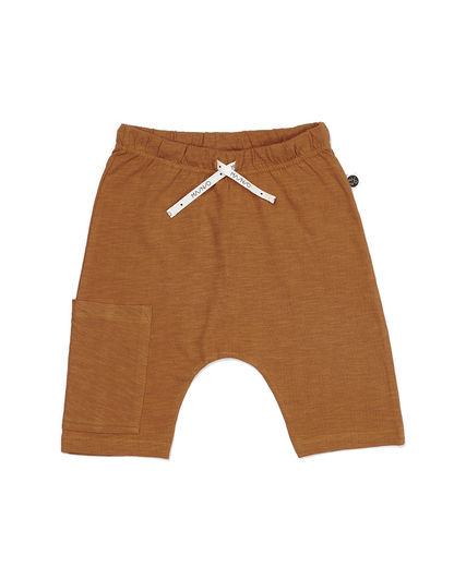 Mainio - SLUB SHORTS, Sudan brown