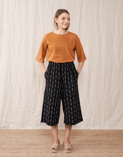 Mainio - Twigs women´s culottes, Black