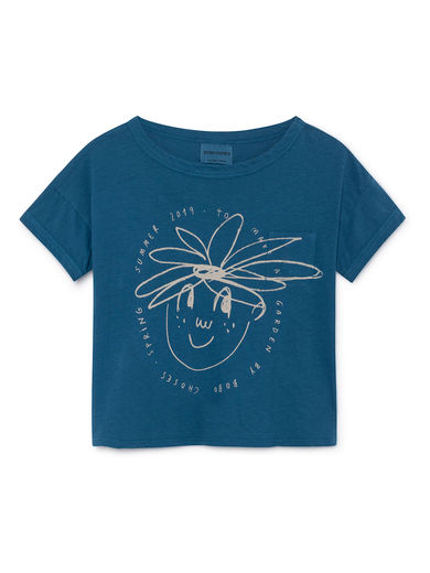 Bobo Choses - Daisy Short Linen T-Shirt, Seaport (119012)