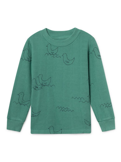 Bobo Choses - Geese Long Sleeve T-Shirt, Frosty (119026)