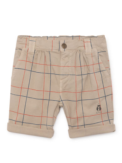 Bobo Choses - Lines Chino Bermuda, Feather (119065)