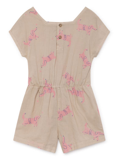 Bobo Choses - Dogs Sleeveless Playsuit, Feather (119079)