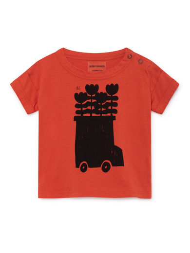 Bobo Choses - Flower Bus Short Sleeve T-Shirt, Red (119156)