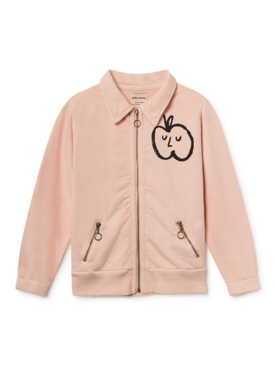 Bobo Choses - Apple Zipped Sweatshirt, Rose Dust (119273)
