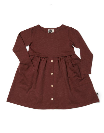 Mainio - Button Dress, Brown