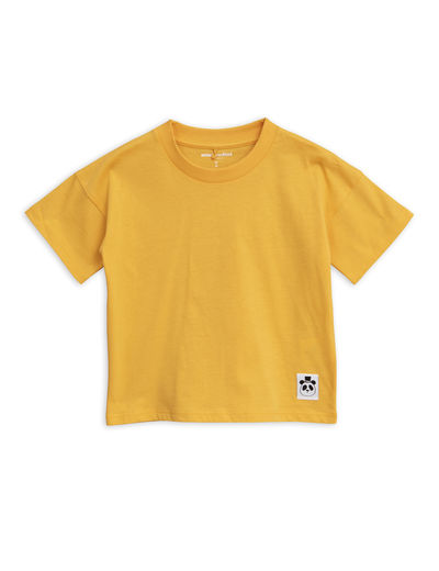 Mini Rodini - Solid cotton ss tee, Yellow