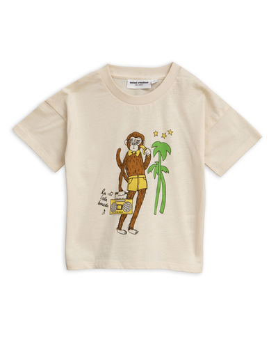 Mini Rodini - Cool monkey sp tee, Offwhite