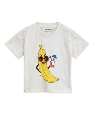 Mini Rodini - Banana sp tee, Offwhite