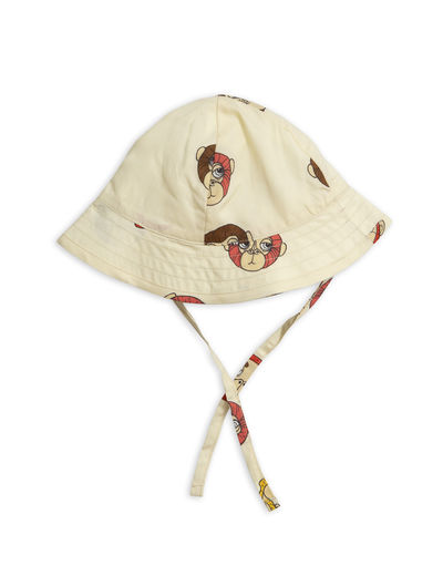 Mini Rodini - Monkey sun hat, Offwhite