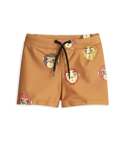Mini Rodini -  Monkey swimpants, Brown