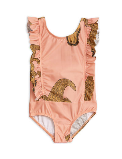 Mini Rodini - Crocco ruffled swimsuit (UPF 50+), Pink