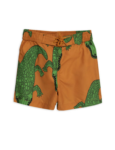 Mini Rodini - Crocco swimshorts, Brown