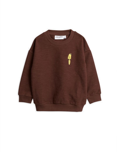 Mini Rodini - Parrot emb sweatshirt, Brown