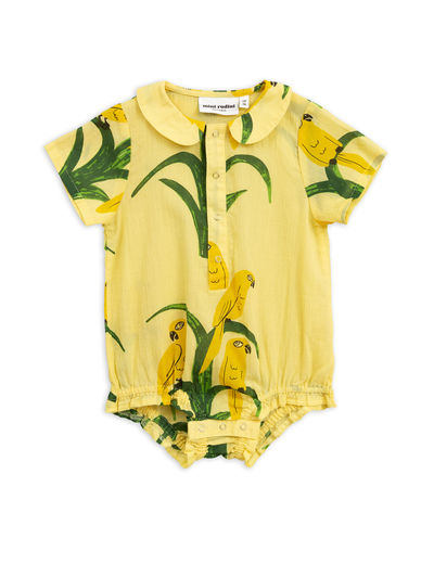 Mini Rodini - Parrot woven body, Yellow