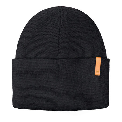 METSOLA - Knitted Beanie Rib Plain, Black