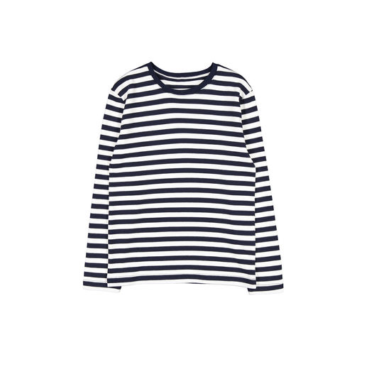 Makia - Verkstad Long Sleeve, Navy / white