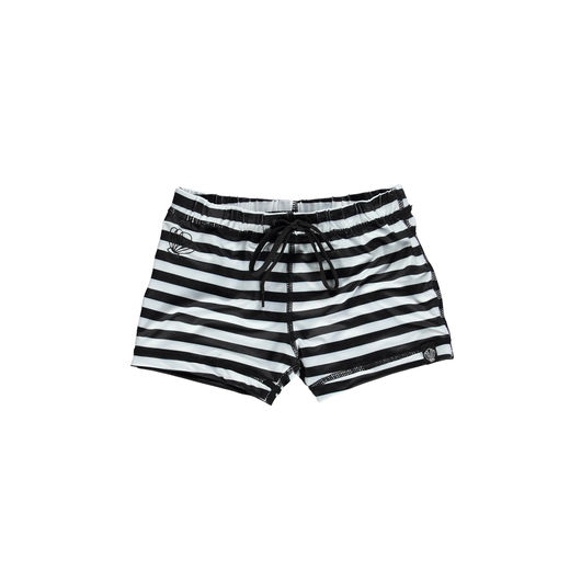 Beach & Bandits - Bandit Swimshort, Black/White