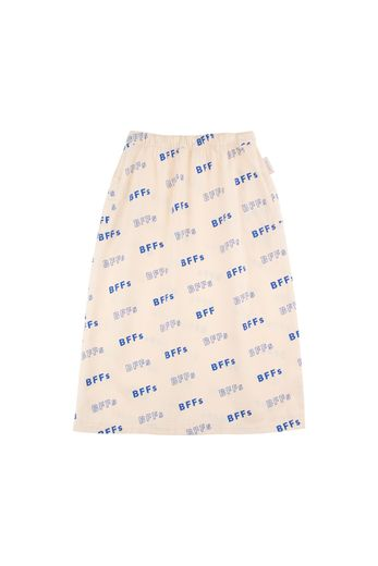 Tinycottons - 'BFFs' LONG SKIRT cream/ultramarine