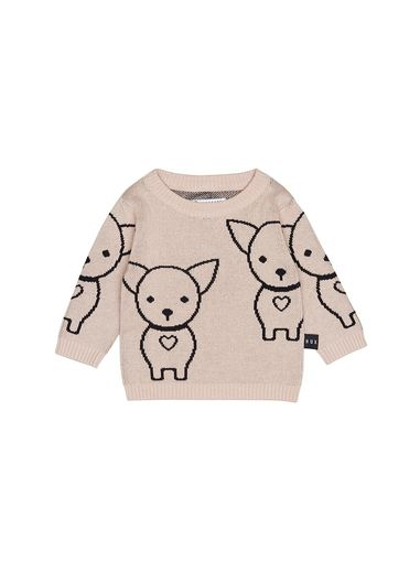 Huxbaby - Chihuahua Knit Jumper, rose