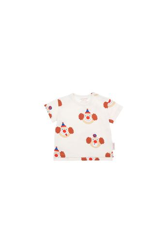 Tinycottons - 'CLOWNS' SS TEE  off-white/sienna
