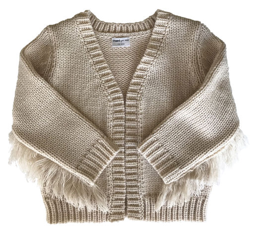 Maed for mini - Crazy Cougar Fringes Knit Cardigan (ss2019-32)