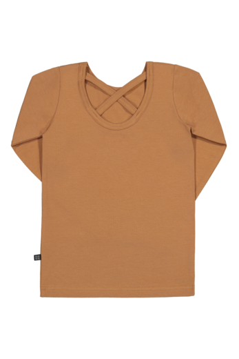 Kaiko - Cross Shirt LS, Caramel