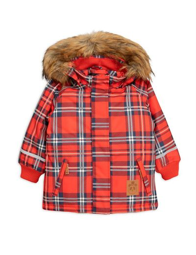 Mini Rodini - K2 check parka, red