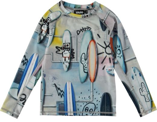 Molo Kids - Neptune long sleeve UV-shirt, Summer Walls