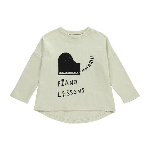 Beau LOves - Piano lessons LS oversized tee, natural