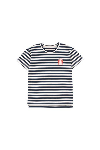 Tinycottons - ''POPCORN' STRIPES SS TEE cream/navy