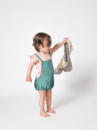 Bobo Choses - Poppy Prairie Romper, Frosty (119174)