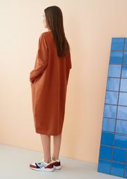 Papu - Giant split dress, sugar brown