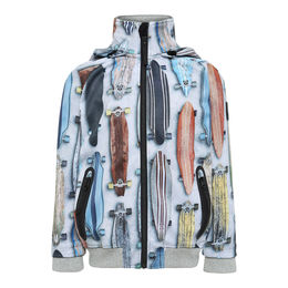 Molo Kids - Cloudy soft shell jacket, Striped Long Boards