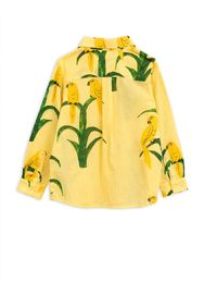 Mini Rodini - Parrot woven shirt, Yellow