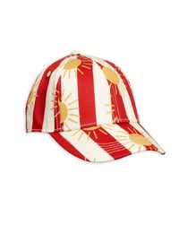 Mini Rodini - Sun stripe cap, Red