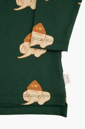 Tinycottons - LUCKYPHANT LS TEE, bottle green/light cream