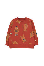 Tinycottons - CATS SWEATSHIRT, dark brown/brown