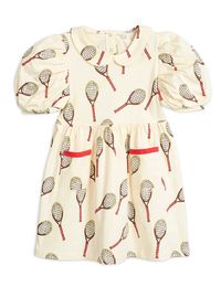 Mini Rodini - Tennis aop ss dress, white