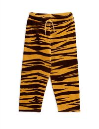 Mini Rodini - Tiger velour trousers, brown