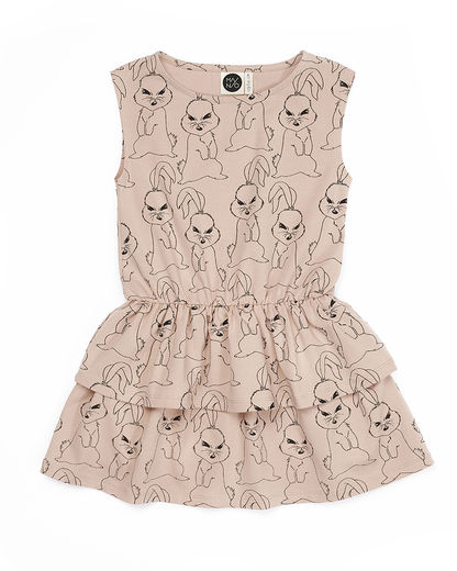 Mainio - Bunni babies frill dress, Nude Rose
