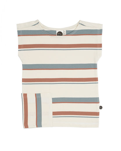 Mainio - BREEZE T-SHIRT, whisper white / tawny orange / silver blue