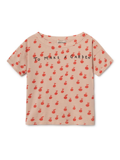 Bobo Choses - Apples Short Sleeve T-Shirt, Rose Dust (119008)