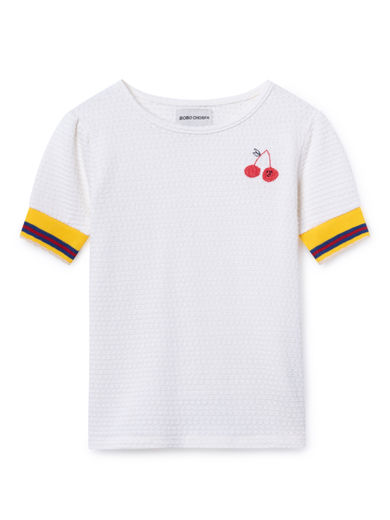 Bobo Choses - Cherry T-Shirt, Blanc de (119021)