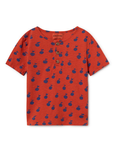 Bobo Choses - Apples Buttons T-Shirt, Red (119024)