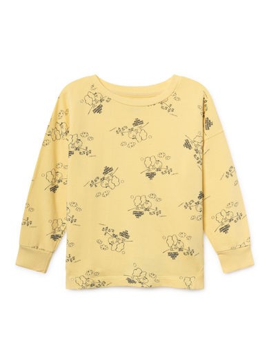 Bobo Choses - Tangerine Round Neck Sweatshirt, Mellow (119030)