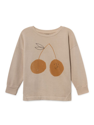 Bobo Choses - Cherry Round Neck Sweatshirt, Feather (119031)